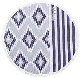 The Beach People The Montauk Round Towel in Blue.