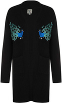 Yumi Peacock Embroidered Cardigan