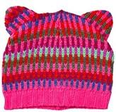 Le Big Multi Stripe Knitted Cat Ear Beanie