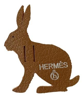 Hermes Petit H Brown Leather Bag charms