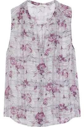 Joie Finnegan Printed Silk-chiffon Blouse