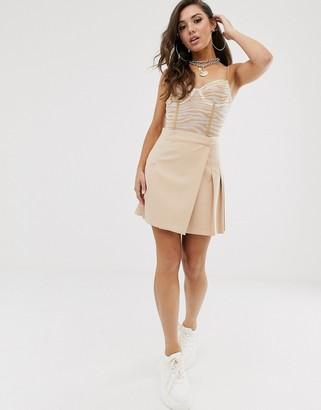 Asos Design DESIGN kilt mini skirt