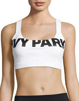 Ivy Park Medium Support Logo Mesh Back Sports Bra
