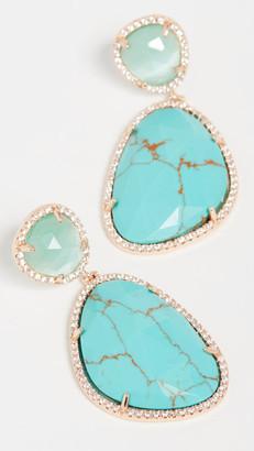 Stella + Ruby Natural Stone Drop Earrings