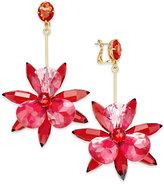 Kate Spade Gold-Tone Blue Flower Drop Earrings