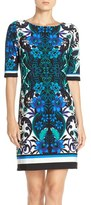 Eliza J Women's Print Jersey Shift Dress