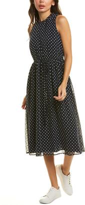Maggy London Clip Dot A-Line Dress