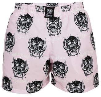 SSS World Corp x Motorhead - Snaggletooth swim shorts