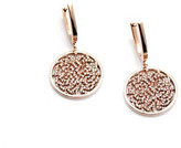 Tresor Collection - Signature Logo Earrings in 18k Rose Gold with Diamonds