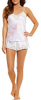 Lauren Ralph Lauren Signature Floral Satin & Lace Pajamas