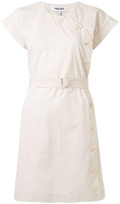 Kenzo Cotton Kimono Short Dress