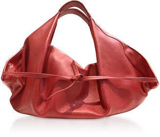 3.1 Phillip Lim Scarlet Leather Luna Mini Slouchy Hobo Bag
