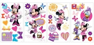 York Wall Coverings York Wallcoverings Minnie Bow-Tique Peel and Stick Wall Decals