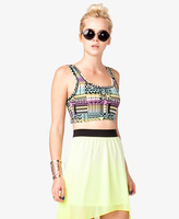 Forever 21 Geo Print Cropped Tank