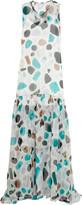 MSGM Printed silk-chiffon maxi dress