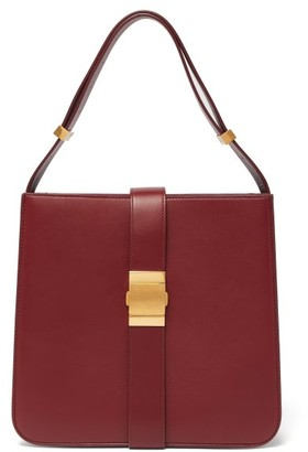 Bottega Veneta The Marie Nappa Leather Bag - Womens - Burgundy
