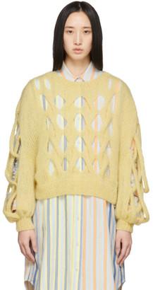Loewe Yellow Mohair Mesh Sweater