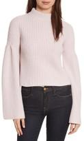 Autumn Cashmere Women's Trumpet Sleeve Crop Sweater