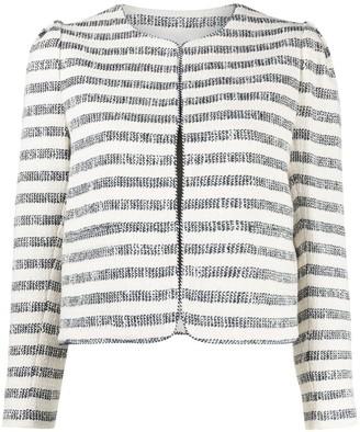 Twin-Set Striped Boucle Jacket