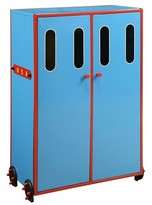 ACME Furniture Tobi Kids Train Wardrobe - Blue - Acme