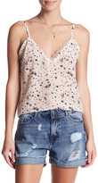 The Kooples Printed Lace Trim Camisole
