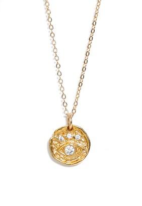Set & Stones Evie Evil Eye Pendant Necklace