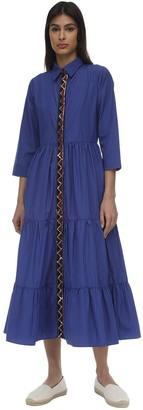 Lug Von Siga PINSTRIPE COTTON MAXI DRESS