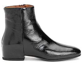 Aquatalia Women's Ulyssa Patent Leather Wedge Booties