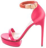 Nicholas Kirkwood Satin Ankle Strap Sandals