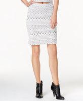Kensie Printed Textured Skirt