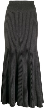 Kenzo Ribbed Knit Pleated Skirt