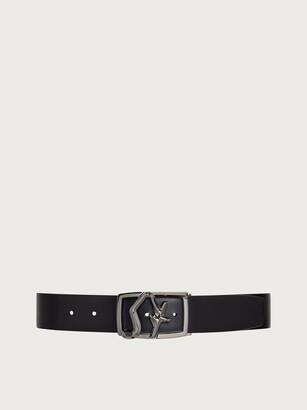 Salvatore Ferragamo Men Reversible and adjustable SF belt Black