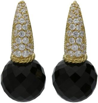 Judith Ripka 14K Clad Gemstone & Diamonique Earrings