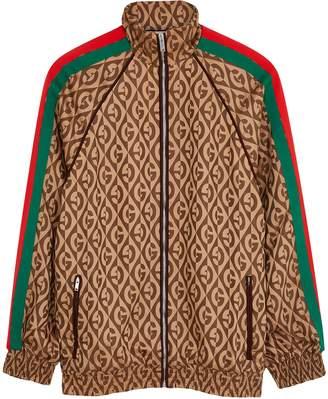 Gucci Brown Logo-jacquard Jacket