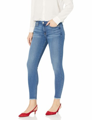 7 For All Mankind Womens Ankle Skinny Mid Rise Jeans