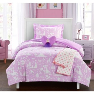 """Chic Home Dart 4 Piece Comforter Set """"Fantasy Forest"""" Fairy Tale Theme"""
