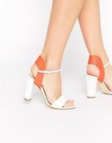 Karen Millen Contrast Pink Flash Two Part Sandals