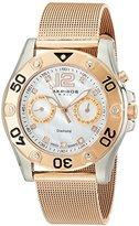 Akribos XXIV Women's AK553RG Diamond Multi-Function Gold-Tone Mesh Bracelet Watch