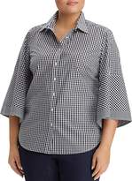 Lauren Ralph Lauren Plus Gingham Blouse
