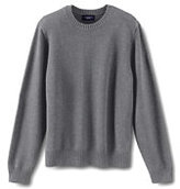 Lands' End Men's Big Cotton Drifter Crew Sweater-Light Meadow Mist Citrus