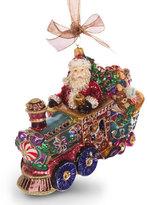 Jay Strongwater Santa on Train Ornament