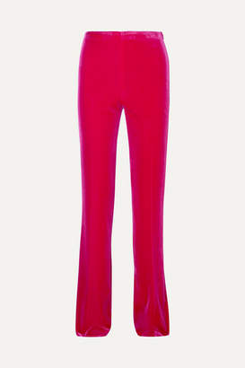 Miu Miu Stretch-velvet Flared Pants - Pink