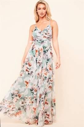 Latiste Sage Floral Dress
