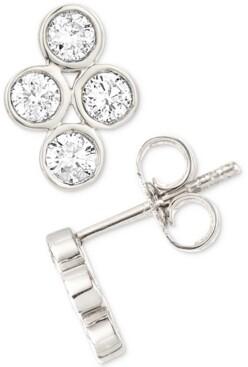 Elsie May Diamond Bezel Stud Earrings (1/4 ct. t.w.) in Sterling Silver