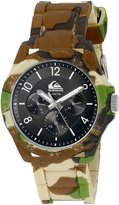 Quiksilver Men's QS/1016BKGN THE SUMMIT Multi-Function Camouflage Silicone Strap Watch