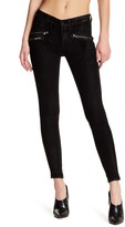 Black Orchid Billie Zipper Leather Skinny Jeans