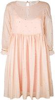 Manoush embellished empire line dress - women - Cotton/Polyester/Spandex/Elastane - 34