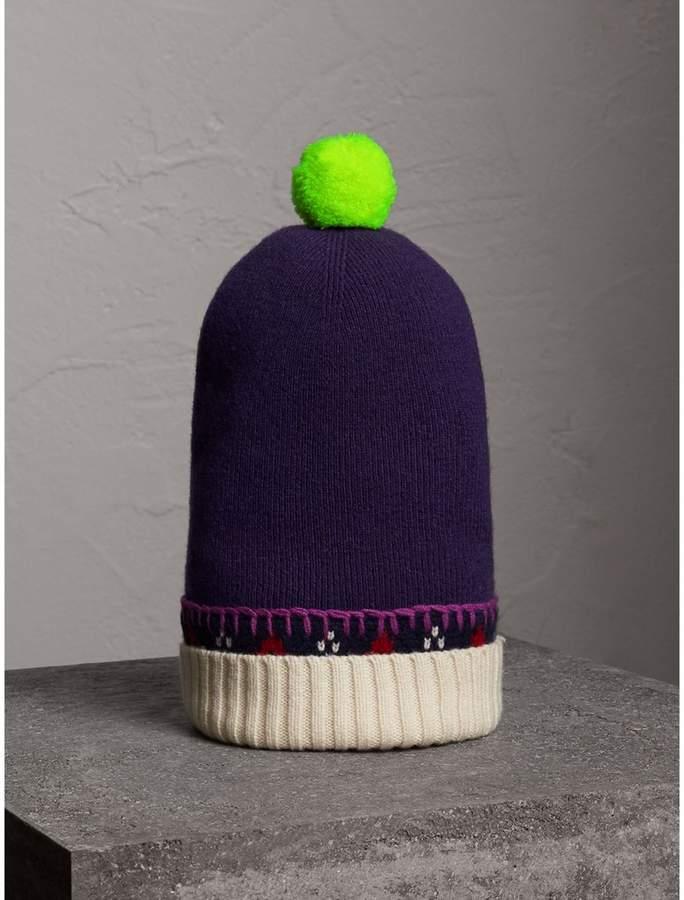 Burberry Pom-pom Cashmere Wool Beanie