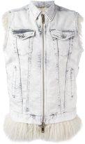 Diesel sleeveless zipped denim jacket - women - Cotton/Acrylic/Modacrylic/Spandex/Elastane - XS