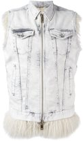 Diesel sleeveless zipped denim jacket - women - Cotton/Spandex/Elastane/Modacrylic/Acrylic - XS
